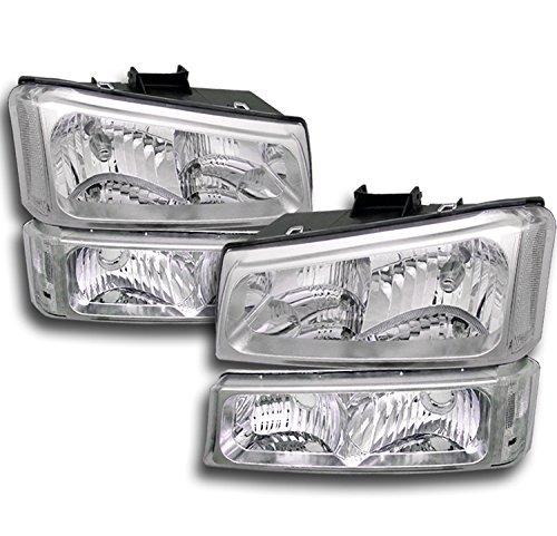ZMAUTOPARTS Chevy Silverado Crystal Headlights +Bumper - Silverado Crystal