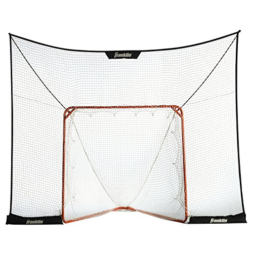 "Franklin Sports Lacrosse Goal Backstop – 12' x 9' FiberTech LAX Backstop Fits Most Official Size 72"" Goals – Indoor / Outdoor Lacrosse Play – Quick Set Up & Breakdown"