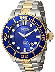Invicta Mens Pro Diver Automatic Stainless Steel Diving Watch, Color:Two Tone (Model: 19804)
