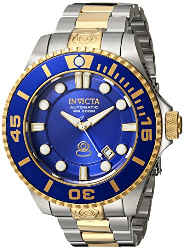 Invicta Men's 'Pro Diver' Automatic Stainless Steel Diving Watch, Color:Two Tone (Model: (18k Gold Automatic Watch)