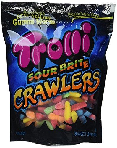 amazon com trolli large sour brite crawlers gummi candy worms 5lb