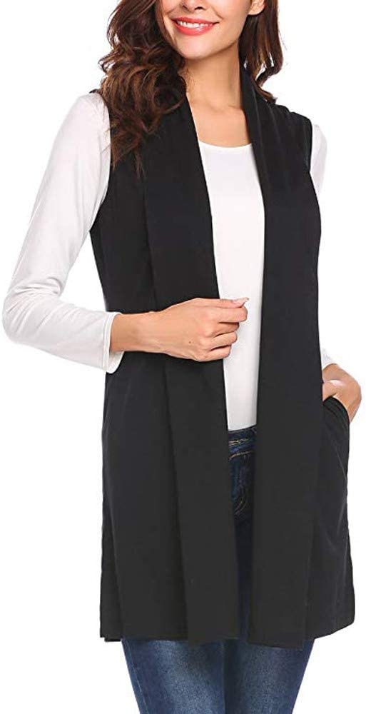 : Women's Cardigan Vest Sleeveless Shawl Collar