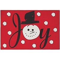 Joy Snowman Cotton Christmas Throw Rug 36 x 24