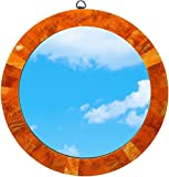 Large Bathroom Mirror Ideas Orange Decor - Acrylic Mirrors for Wall - Round Mirror 14.4