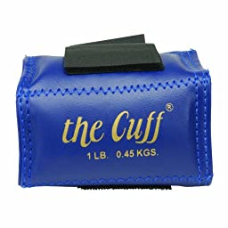Cando 10-0203 Blue Cuff, 1 lbs Weight, For Wrist or Ankle