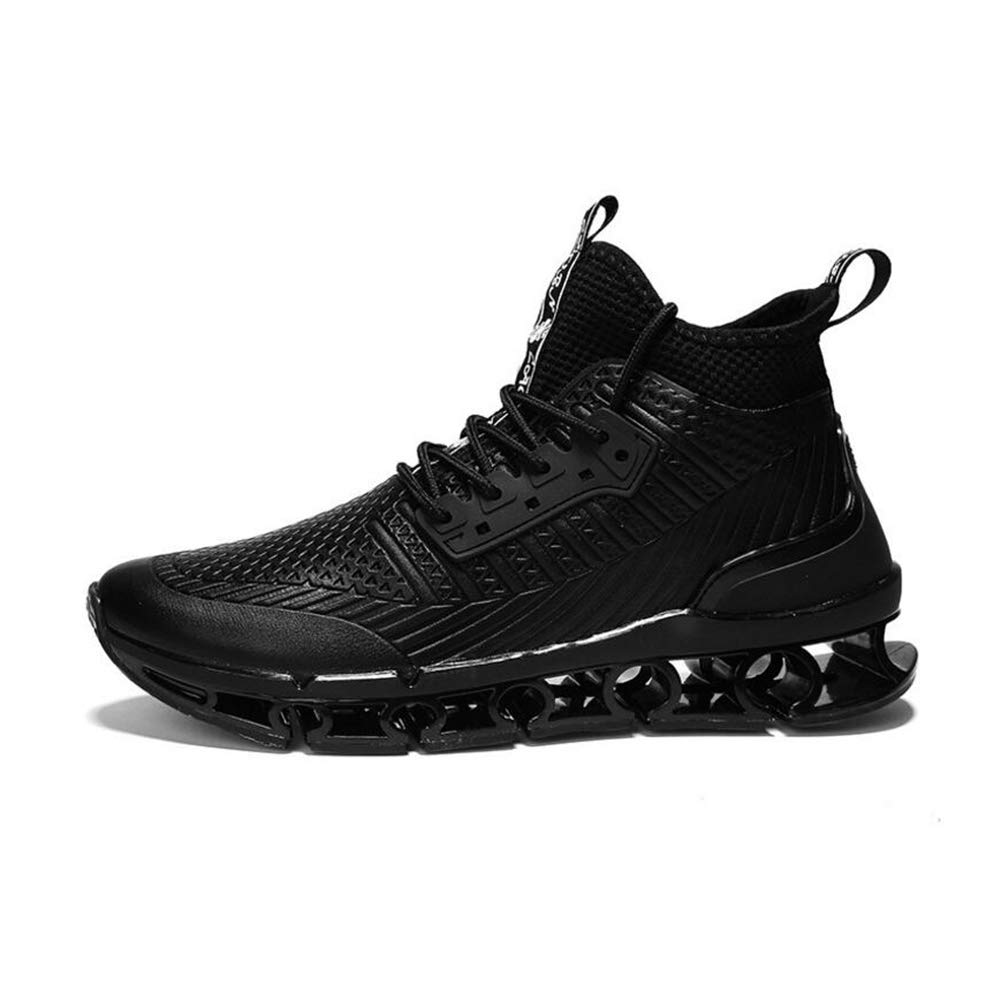 Black 41 Men's shoes, Autumn Winter top Tie Casual Basketball shoes NonSlip WearResistant Outdoor Running shoes Mens shoes (color   Black, Size   41)