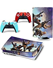 PS5 Skin Console and PS5 Skin Controller Set, Playstation 5 Skin Wrap Decal PS5 Disk and PS5 Digital Edition, Game Decal Kit (Disk Edition)