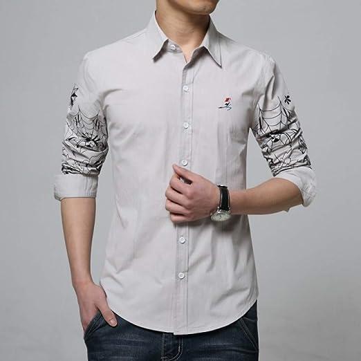 CSDM Camisa de Hombre Algodón Camisas de los Hombres Bordado de la ...