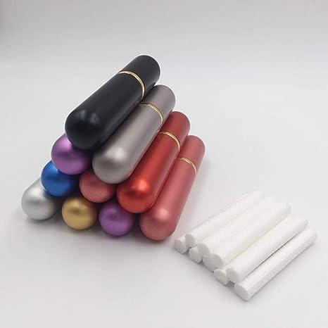 SUPVOX Tubos de aceite esencial 5pcs Tubos de inhalador nasal en blanco con mechas de color al azar: Amazon.es: Salud y cuidado personal