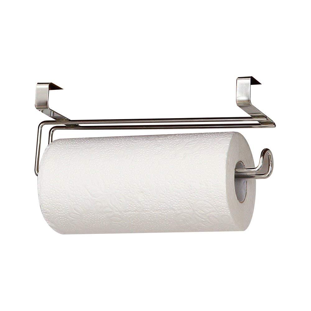 Support Porte Rouleau de Papier dé vidoir papier essuie-tout en acier inoxydable pour placard de cuisine porte-serviettes de salle de bain generique