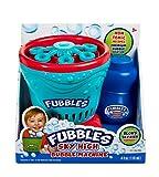 Little Kids Fubbles Blow Tons of Sky High Bubbles Party Machine for Kids & Includes Bubble Solution, Blue/Red
