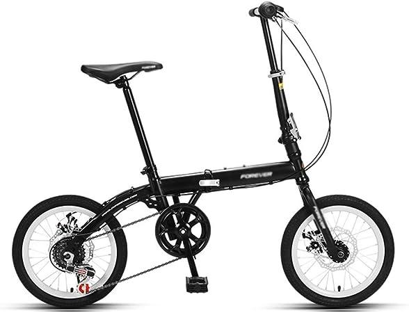 Paseo Bicicleta Bicicleta Clásica Estilo Libre Velocidad Ajustable Rueda De 16 Pulgadas (Color : Black, Size : 125 * 86cm): Amazon.es: Hogar