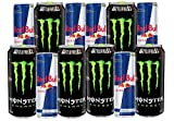Assortment of Energy Drink: Monster 16 fl oz and Redbull 8.4 fl...