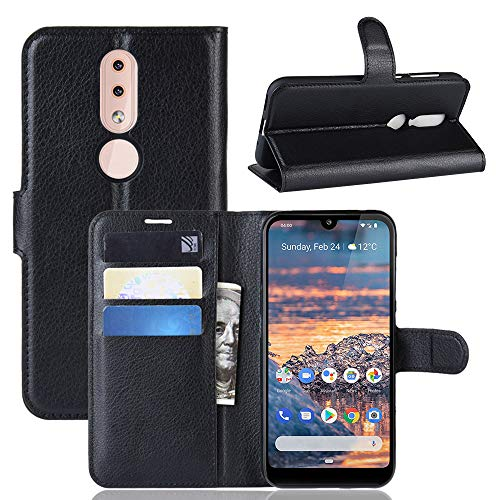 Nokia 4.2 Wallet Case, Flip Leather Shockproof Protective Phone Cover with Credit Card Slots & Magnetic Closure & Touch Screen Stylus Pen for Nokia 4.2 Smartphone