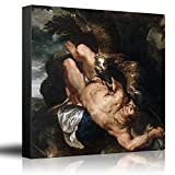 wall26 - Oil Painting of Prometheus Bound by Peter Paul Rubens - Baroque Style - Catholic, Christianity, Eagle - Canvas Art Home Decor - 24x24 inches