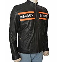 Bill Goldberg WWE Harley Davidson Motorcycle Vintage Biker Real Leather Jacket