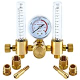 YaeTek Dual Argon CO2 Mig Tig Flow Meter Regulator Welding Weld Double Backpurge