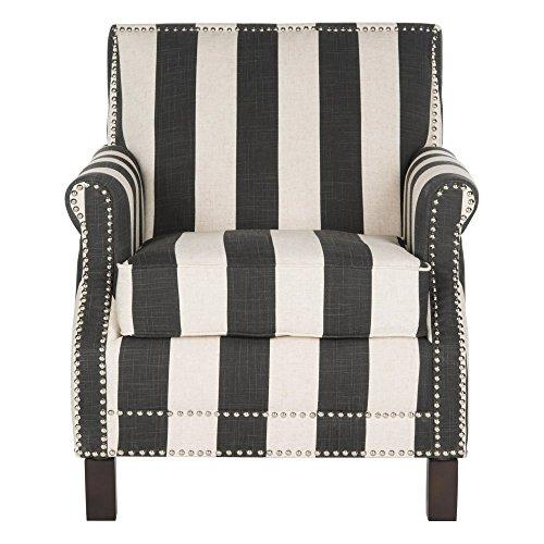 Safavieh Mercer Collection Easton Club Chair, Black/White