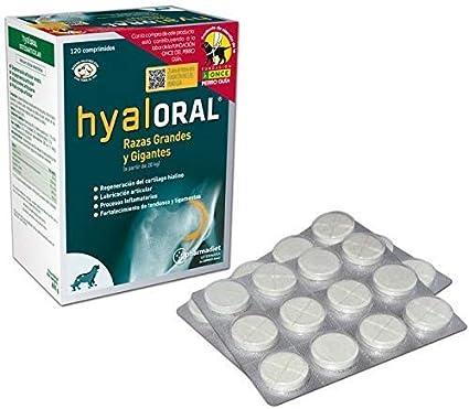 Hyaloral 120 comp para Perros de Razas Grandes y Gigantes | Suplemento Nutricional para el dolor de Caderas, Articulaciones y Cartílagos | Complemento Vitamínico para fortalecer Tendones y Ligamentos