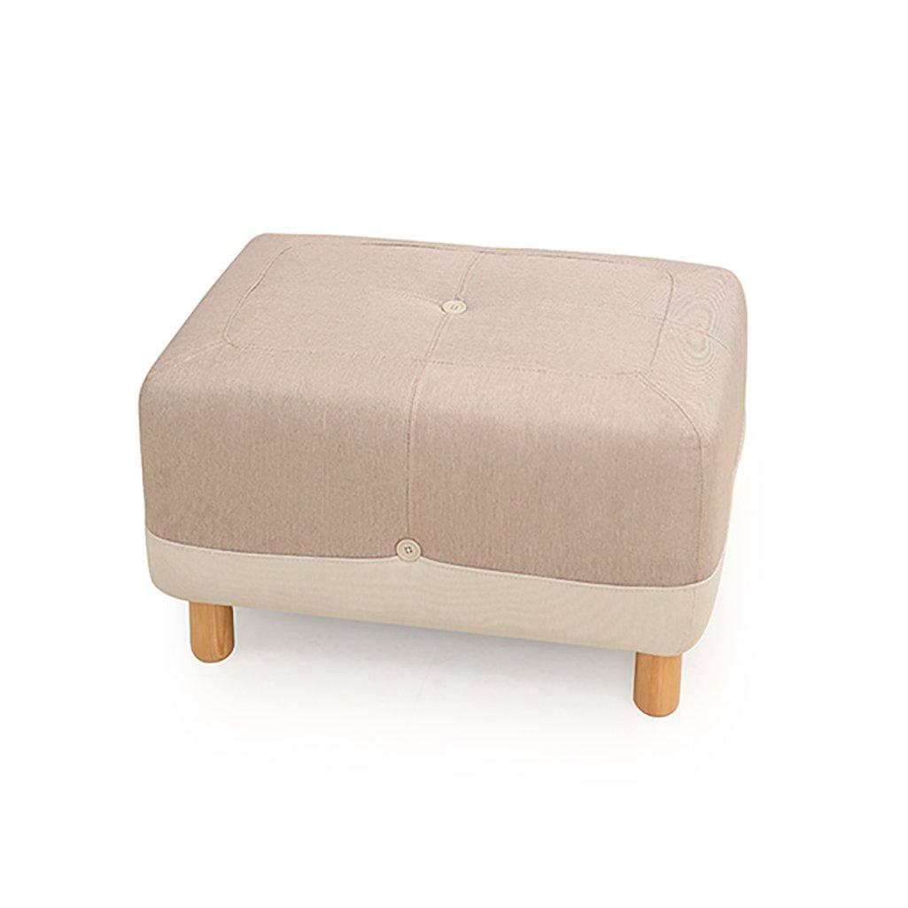 AJZXHE Schuhe modernen minimalistischen Wohnzimmer Stoff Pediküre Hocker Bank Sofa Hocker (65 * 45 * 41cm) (Farbe : B)