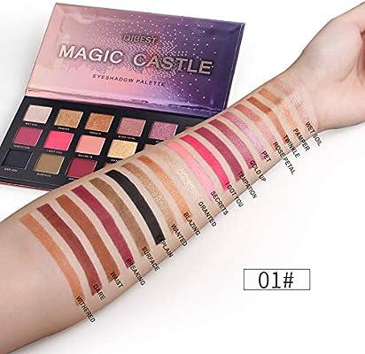 UINGKID - Paleta de maquillaje con purpurina de 18 colores para ...