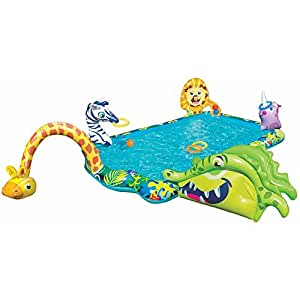 Kids inflatable pool big kiddie blow up above - Amazon inflatable swimming pool toys ...