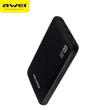 30000 mAh Awei Powerbank - Cargador Portátil con 3 puertos ...