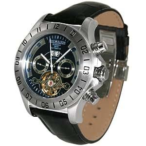 Baxx-Bloom Sussex Automatik B411019 - Reloj analógico de caballero automático con correa de piel negra - sumergible a 50 metros