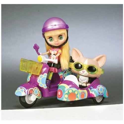 Littlest Petshop 214621480 - Figurine - Blythe et Son Petshop en Side Car