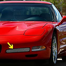C5 ZO6 Style Corvette Fog Light Screen With Housing Includes Both Sides Fits: All 97 through 04 Corvettes