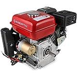 EBERTH 6,5 CV Motore a benzina (Avviamento elettrico e a strappo, 20 mm Albero, Motore a scoppio 4 tempi, 1 Cilindro, Raffreddato ad aria, Protezione da mancanza olio, Batteria)
