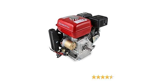 EBERTH 6,5 CV Motor a gasolina (E-Start, 20 mm Diámetro del eje, Seguridad por falta de aceite, 1 Cilindro, 4 Tiempos, refrigerado por aire, ...