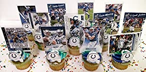 Indianapolis Colts Birthday Cupcake Topper Party Favor Set