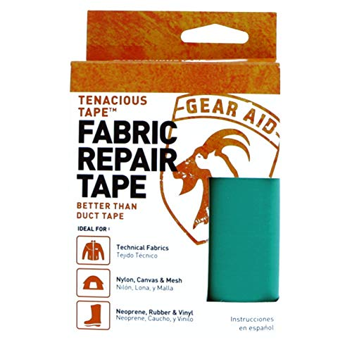 "Gear Aid Tenacious Tape Nylon Repair Tape for Fabric and Vinyl, 3"" x 20"", (Teal) ()"