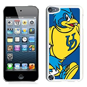 Fashion And Unique iPod Touch 5 Cover Case NCAA Colonial Athletic Association CAA Football Delaware Fightin Blue Hens 3 Protective Cell Phone Hardshell Cover Case For iPod Touch 5 White Phone Case