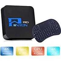 Penton Android 6.0 TV Box Amlogic S905X 64 Bits True 4K Playing 1GB DDR4/8GB ROM+Keyboard 2.4G 3D Quad Core UHD WiFi & LAN DLNA H.265 HDMI Ethernet Media Player