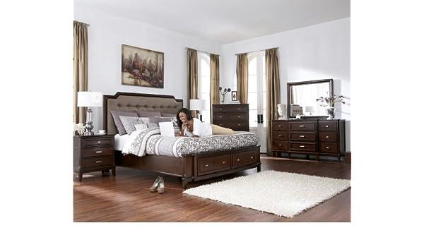 Amazon.com: Ashley Larimer Upholstered Storage Bedroom Set ...