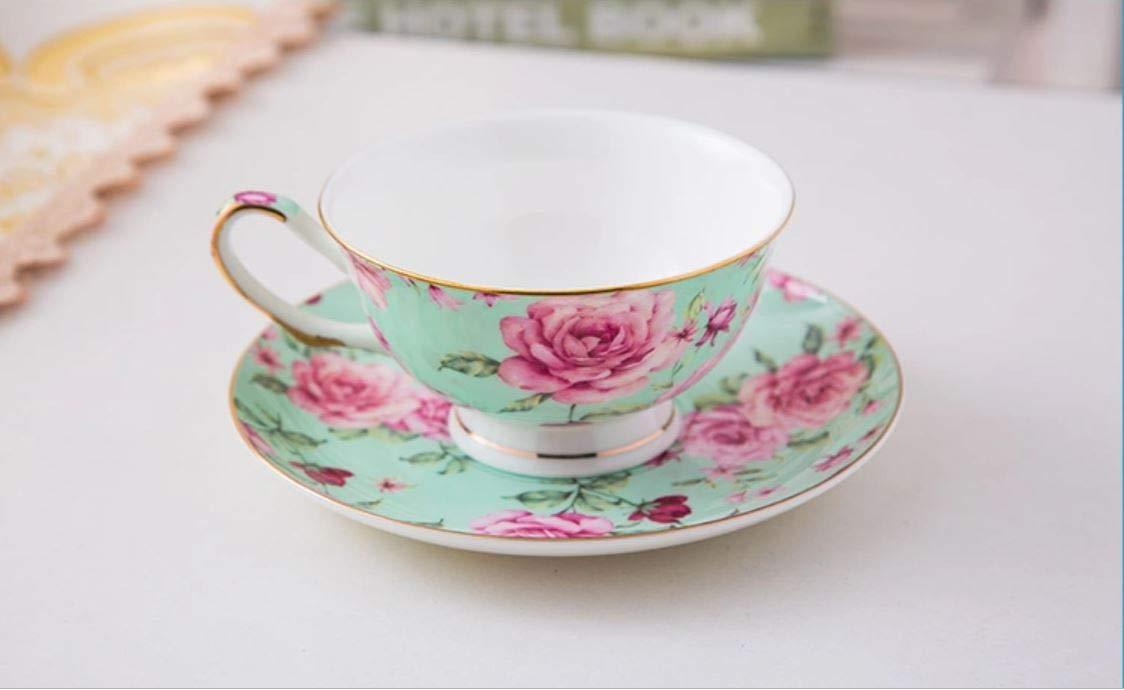 Floral Tea Cups BT/äT- Tea Cups 8oz Tea Cups for Tea Party China Tea Cups Tea Set Porcelain Tea Cups Brew to a tea Tea Cups and Saucers Set of 4 Bone China Rose Teacups Tea Set Tea Cups and Saucers Set