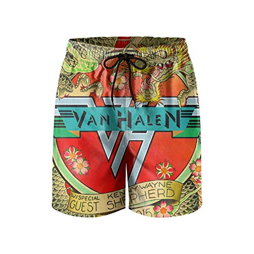 ArNSports Van-Halen-Cleveland-2015- Beachwear Shorts for Men Street Swimwear Quick Dry Swim ()