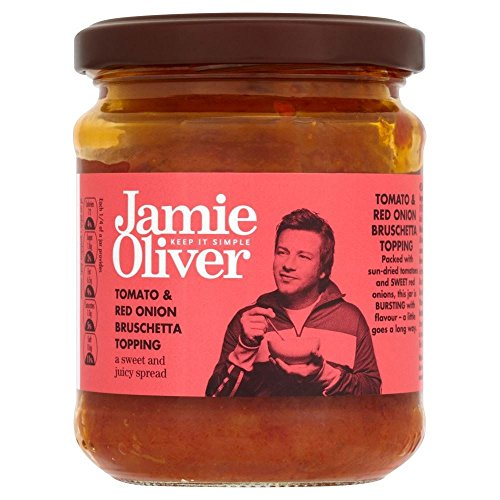 Jamie Oliver Tomato & Red Onion Bruschetta Topping (180g) - Pack of (Tomato Bruschetta Topping)