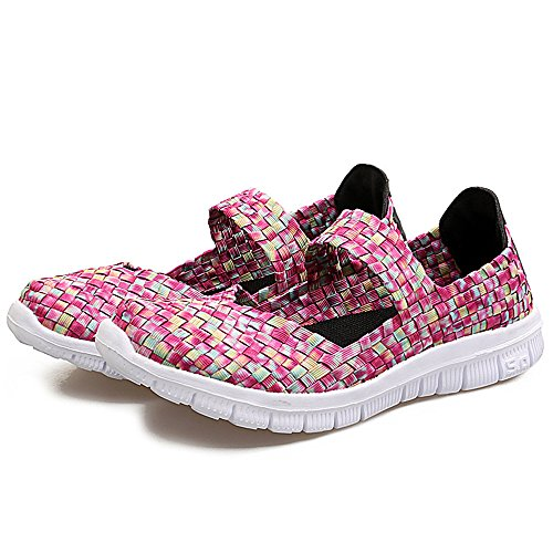YUBUKE Spring and Autumn Swing Shoes Breathable Sneakers Slope with Platform Shoes(Pink 36/5.5B(M)USWomen)
