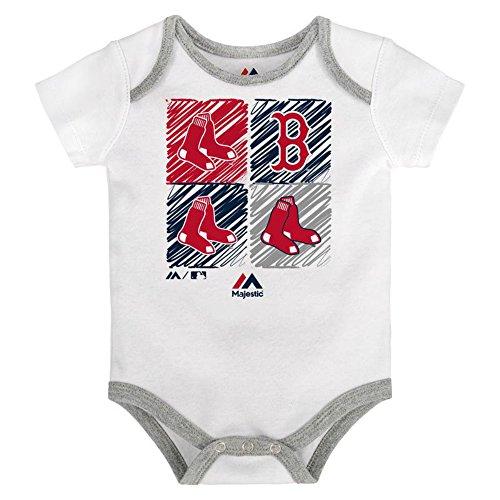 (Boston Red Sox Infant Onesie Size 12 Months Bodysuit Creeper White)