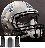 Riddell Speed DETROIT LIONS NFL AUTHENTIC Football Helmet with S2BD Football Helmet Facemask/Faceguard and MIRRORED Eye Shield/Visor