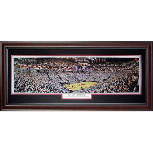 Miami Heat (2006 NBA Champions) Deluxe Framed Panoramic Photo - Deluxe Frame Miami Heat