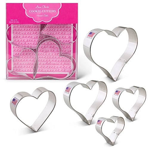 Heart Shape Cookie Cutters - 5 Piece Boxed Set - 2 5/8