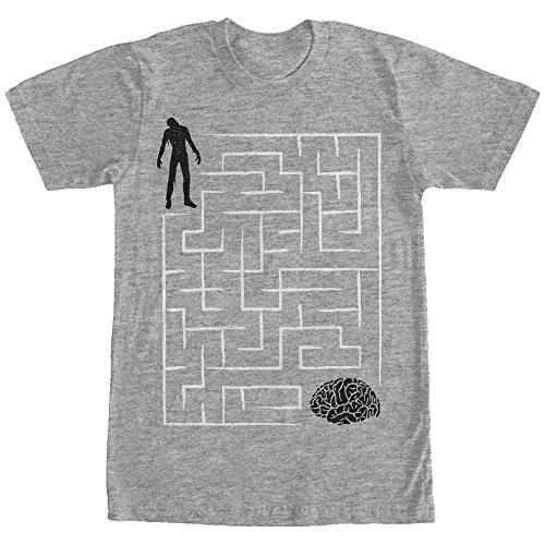 Lost Gods Men's Halloween Zombie Brain Teaser Maze Athletic Heather T-Shirt]()