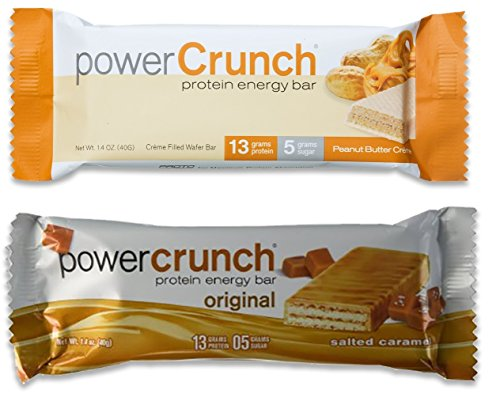 Bionutritional Power Crunch GBpkqPo Protein Energy Bars Peanut Butter Creme/Salted Caramel, 6 of (Bio Protein Bar Peanut Butter)