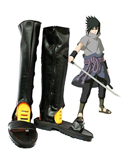 Bromeo Naruto Shippuden Anime Uchiha Sasuke Cosplay Schuhe Stiefel Stiefeletten