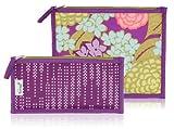 BlueAvocado Fresh Zip Lunch Kit, Purple Lanai/Purple Dotted Chevron