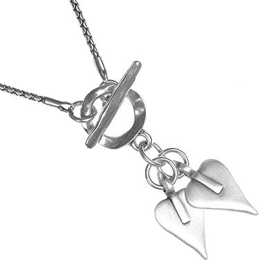 90b8b72f6 * Classic Danon Jewellery: Snake Chain Necklace with Two Signature Danon  Heart Pendants: Amazon.co.uk: Jewellery